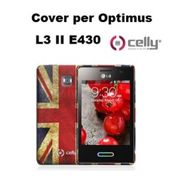CELLY cover Optimus LG L3 II E430 vintage UK in TPU