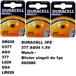 DURACELL 3 PZ 377 AG04 1.5V Watch - Blister 1pz. - 062986