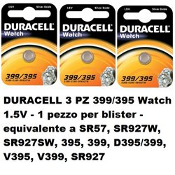 DURACELL 3 PZ 399/395 Watch 1.5V - 1 pezzo per blister - 068278