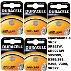 DURACELL 5 PZ 399/395 Watch 1.5V - 1 pezzo per blister - 068278