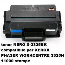 toner NERO X-3325BK compatibile per XEROX PHASER WORKCENTRE 3325H 11000 stampe