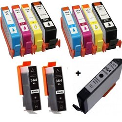 Multipack 11 cartucce compatibili per HP 364XL ( 4BK/2C/2M/2Y + 1 NERO PHOTO)
