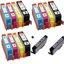 Multipack 14 cartucce compatibili per HP 364XL ( 3BK/3C/3M/3Y e 2 NERO PHOTO)