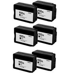 Multipack 6 cartucce compatibili HP 932XL NERE per HPofficejet 6100 /6600 /6700/ 7610
