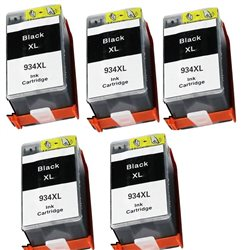 multipack 5 cartucce compatibili HP 934XL NERE per HP Officejet Pro 6830 , Officejet Pro 6230