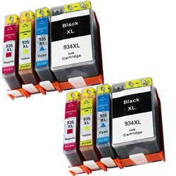 multipack 8 cartucce compatibili HP 934XL / 935XL per HP Officejet Pro 6830 , Officejet Pro 6230