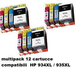 multipack 12 cartucce compatibili HP 934XL / 935XL per HP Officejet Pro 6830 , Officejet Pro 6230