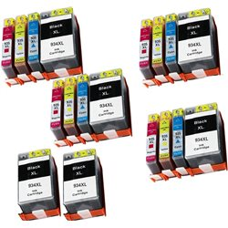multipack 18 cartucce compatibili HP 934XL / 935XL per HP Officejet Pro 6830, Officejet Pro 6230
