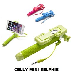 CELLY Mini Selfie Asta Tascabile, Supporto Regolabile per smartphone max 5.5 pollici