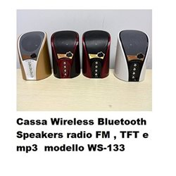 Cassa Wireless Bluetooth Speakers radio FM , TFT e mp3 modello WS-133