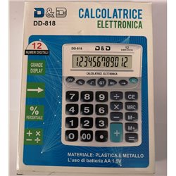 calcolatrice elettronica 12 cifre e display grande