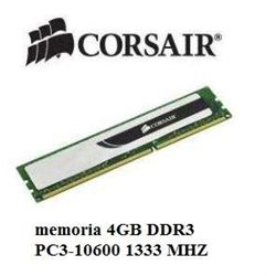 CORSAIR memoria 4GB DDR3 PC3-10600 1333 MHZ