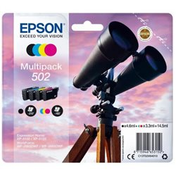 multipack epson 502 BK/C/M/Y BINOCOLO, Expression Home XP-5105, XP-5100 WorkForce WF-2865DWF, WF-2860DWF