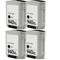 Multipack 4 cartucce compatibili HP 940XL NERE per Hp OfficeJet PRO 8000 , 8500 series