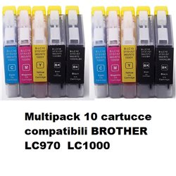 Multipack 10 cartucce compatibili BROTHER LC970 LC1000