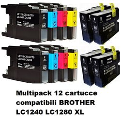 Multipack 12 cartucce compatibili BROTHER LC1240 LC1280 XL per MFC-J5910DW,J6510DW, J6710DW, J6910DW