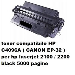 toner compatibile HP C4096A per hp laserjet 2100 / 2200 black 5000 pagine