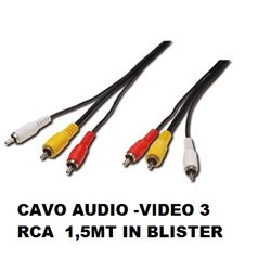 CAVO AUDIO -VIDEO 3 RCA 1,5MT IN BLISTER