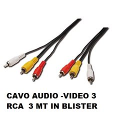CAVO AUDIO -VIDEO 3 RCA 3 MT IN BLISTER