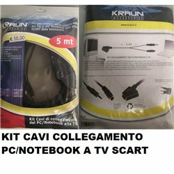 KIT CAVI COLLEGAMENTO PC/NOTEBOOK A TV SCART