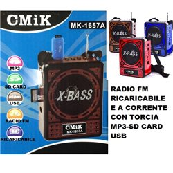 Radio multimediale, lettore MP3, radio FM, usb , SD , TORCIA