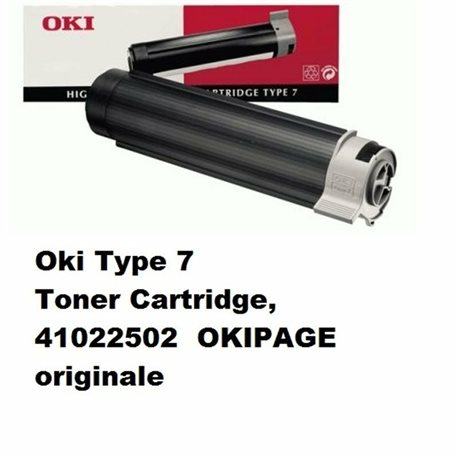 Oki Type 7 Toner Cartridge, 41022502 OKIPAGE originale