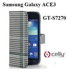 GT-S7270 Samsung Galaxy ACE3 custodia CELLY Wally Pied de Poule