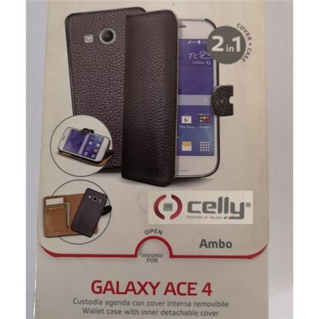 CELLY GT-S7270 Samsung Galaxy ACE3 custodia Wally Pied de Poule