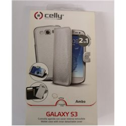 i9300 - Samsung Galaxy S3 - custodia a libro 2 in 1 ( cover + custodia) in ecopelle di qualita celly