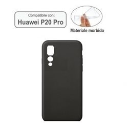 Huawey Ascend P20 PRO cover in materiale morbido nera