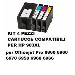 multipack 4 cartucce hp 903xl bk/c/m/y Officejet Pro 6860 6960 6970 6950 6968 6966