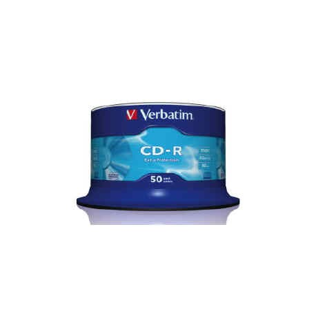 VERBATIM CD-R 80 Min/700 MB 52X Extra Protection in campana da 50pz