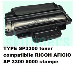 TYPE SP3300 toner compatibile RICOH AFICIO SP 3300 5000 stampe
