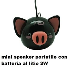 mini speaker portatile con batteria al litio 2W  NEW DESIGN
