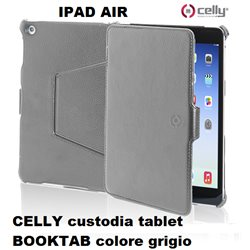 CELLY custodia tablet BOOKTAB per IPAD AIR - colore grigio
