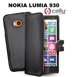CELLY cover Nokia Lumia 930 a portafoglio nera con cover staccabile