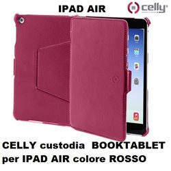 CELLY custodia  BOOKTABLET per IPAD AIR colore ROSSO