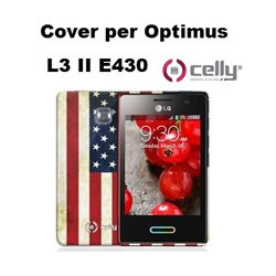 CELLY cover Optimus LG L3 II E430 vintage USA in TPU + SCREEN PROTECTOR