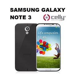 CELLY GALAXY NOTE 3  Cover in morbido e avvolgente TPU anti-shock nero