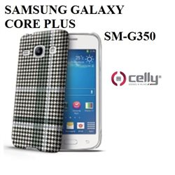 SM-G350 custodia CELLY PIED DE POULE per SAMSUMG GALAXY CORE PLUS  BK