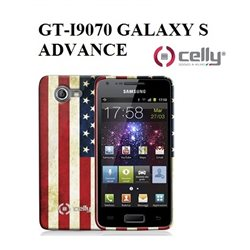 GT-I9070 GALAXY S ADVANCE Cover vintage USA  in morbido e avvolgente TPU + SCREEN PROTECTOR