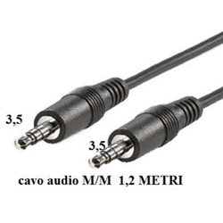 CAVO AUDIO JACK 3.5MM M/M 1,2MT